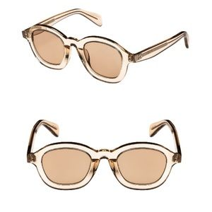 Céline 47mm Round Sunglasses Beige/ Light Brown